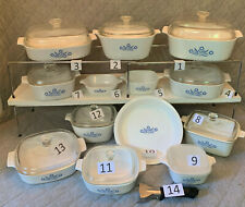 Choice Vintage Corningware Blue Cornflower Bakeware Estate Lot Beautiful Mcm