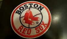 """Boston Red Sox vintage iron  logo patch 4"""" x  4"""" AWESOME"""