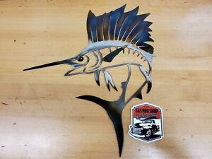 Sailfish Metal Wall Art Plasma Cut Home Decor Gift Idea saltwater fish marlin