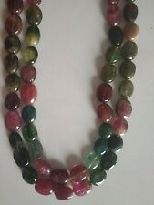 Tourmaline Oval Multi-Color Smooth Plain Beads 2 Strand 360 Cts Natural Gemstone