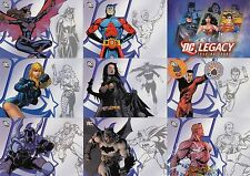 DC LEGACY 2007 RITTENHOUSE ARCHIVES COMPLETE BASE CARD SET OF 50