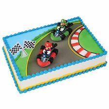 Mario Kart Super Mario Luigi 3 Piece Cake Kit Decoration Supplies Party Favors