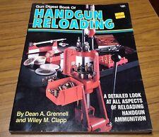 Gun Digest Book of Handgun Reloading Information Reference Guide Tables Pistol