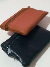 Monedero llavero de piel con 3 bolsillos cartera para monedas, dinero y llaves