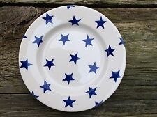"EMMA BRIDGEWATER rare original . Blue Stars . 8-1/2"" PLATE . spongeware"