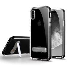 Apple iPhone X TPU Bumper Frame with Kick Stand Black
