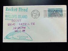 Enveloppe conquête spatiale américaine du 27 03 1964 Wallops Island Scout UK-C