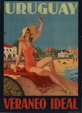 Vintage Travel Poster Uruguay Veraneo Ideal