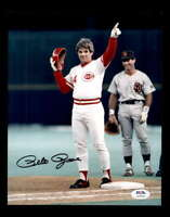Pete Rose PSA DNA Coa Hand Signed 8x10 Reds Photo Autograph