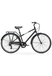 Sixthreezero Reach Your Destination Men's Hybrid Bike With Rear Rack Matte Black