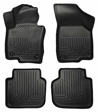 Husky Liners WeatherBeater Floor Mats - 4pc - 98681- VW Passat 2012-2017 - Black
