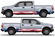 US American flag Wrap rocker panel side sticker Decal fits to F150 RAM Tundra