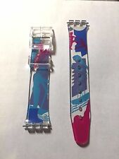 NEW 16MM PVC SURFING/SPORT DESIGN FITS SWATCH REPLACEMENT WATCH BAND STRAP