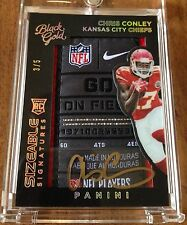 2015-16 Panini Black Gold Patch Auto Chris Conley Card. #'d 3/5 ONLY 5 MADE!!