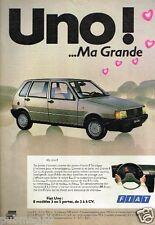 Publicité advertising 1983 Fiat Uno