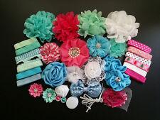 Deluxe DIY kits,Baby Shower Headband,shabby flowers Rose hair bow ,Party DIY,S14