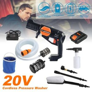 Cordless 580PSI Pressure Washer Cleaner W/Battery 3000mAh Portable Power Charger