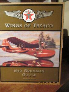 WINGS OF TEXACO 1940 GRUMANN GOOSE  4TH IN SERIES NIB- DIECAST