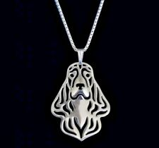 Cocker Spaniel dog pendant collectable jewellery gift with chain - Silver