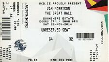 Van Morrison - ORIGINAL Concert Ticket - Downpatrick, N.I. - 22nd Nov 2014