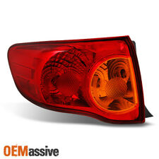 Fits 2009 2010 Toyota Corolla Driver Left Side Outer Piece Tail Light Set