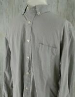 J Crew Mens Size L Shirt 100% 2 Ply Cotton Checked Long Sleeve Button Down