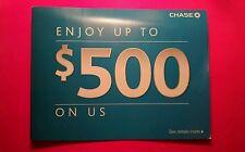 Chase $500 Bonus: $300 Checking $200 Savings - NoW or FAST SHIP!  exp: Nov 27