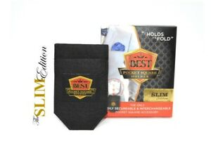 SLIM Edition - Best Pocket Square Holder + free Shirt Collar Extenders