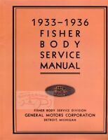 SHOP MANUAL SERVICE REPAIR FISHER BODY BOOK 1936 1933 1935 1934 CHEVROLET BUICK