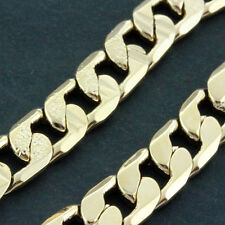 FS631 GENUINE 18CT ROSE G/F GOLD SOLID CLASSIC CUBAN CURB NECKLACE CHAIN 60CM