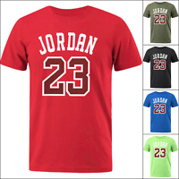 Men's Short Sleeve T Shirt Michael Air JORDAN 23 Basketball Fashion Clothing