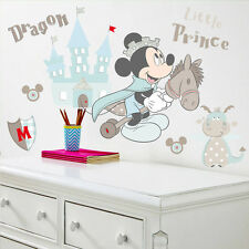 Disney Mickey Mouse Wall Stickers Nursery Dragon, Castle, Children, Baby, Horse