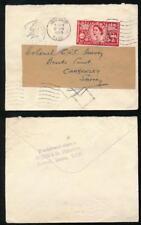 GB 1953 STAMP DEALER NORRIS HANDSTAMP + RETURNED..3 STRIKES of DIAMOND MACHINE