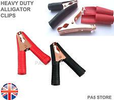 2x Cocodrilo batería de coche Clips Heavy Duty 100a Cocodrilo prueba abrazaderas 9cm De Cobre
