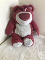 Toy Story Disney Store LOTSO HUGGIN' BEAR  Strawberry Scented Soft Toy Plush 16