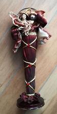 Natale, Presepe. Rappresentazione Sacra Famiglia con statuine in resina