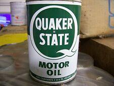 Early Original Quaker State  Motor Oil Quart Metal Can Pre Zip Code