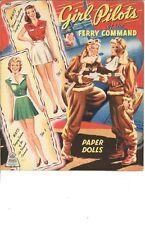 Vintage Uncut Girl Pilots Paper Doll Hd Laser Reproduction~Lo Price~Hi Qual