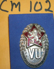 cm102 Czechoslovakia military army officers school badge low serial number