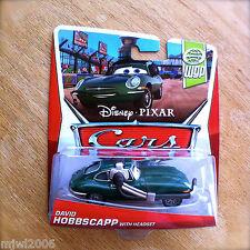 Disney PIXAR Cars DAVID HOBBSCAPP WITH HEADSET on 2013 WGP THEME diecast 13/17