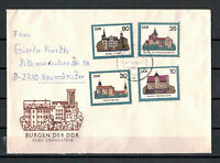 """DDR, FDC MiNr. 2976 - 2979 """"Burgen der DDR"""" Kirschau nach Neumünster 30.10.1985"""