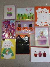 LOT 9 PAPYRUS GREETING CARDS, HALLOWEEN, VALENTINE'S DAY, EASTER, NEW SEALED #87