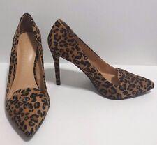 """Lauren Conrad Leopard Print High Heels Sz 8M EUC Suede 4"""" Heel"""