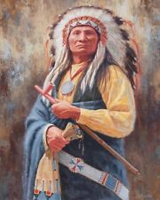"""10 x 8"""" NATIVE AMERICAN RED INDIAN CHIEF METAL PLAQUE TIN SIGN OTHERS LISTED 850"""