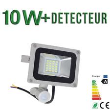 Projecteur Exterieur LED 10W blanc froid  AVEC Detecteur Extra plat 220V IP65