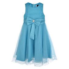 Robes bleu au-dessous du genou polyester pour fille de 2 à 16 ans