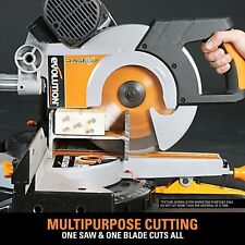 10in Miter Saw Cutting Blade Double Bevel Electric Power Tool PVC Metal Corded