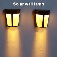 4x LED Solar Garten Lampe Wandlampe Solarleuchte Solarlampe Treppenlichter Zaun