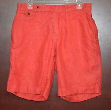 Polo Ralph Lauren Men's Cape Cod Red Twill Cotton Preppy Casual Shorts Size 33