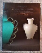 Venitian Glass 1910-1960 Important Private Collection Sotheby's Nov. 10th 1990